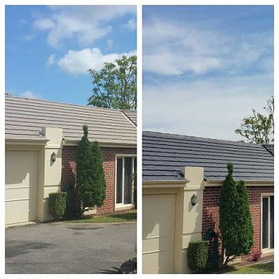 Before and After on Roof in Victoria